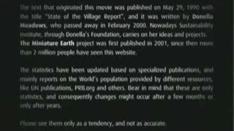 Thumbnail for entry Mini Earth