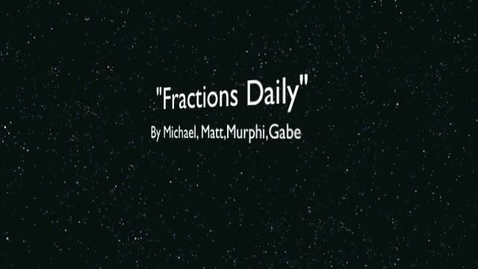 Thumbnail for entry Fractions Daily