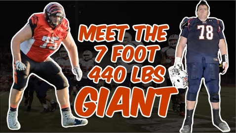 Thumbnail for entry Meet The Most MASSIVE High School Player of All Time