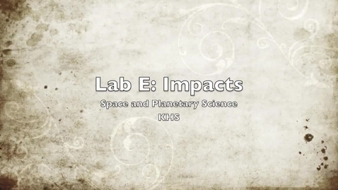 Thumbnail for entry Lab E Video