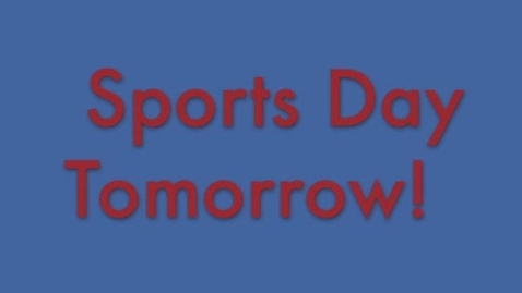 Thumbnail for entry Sport Day!