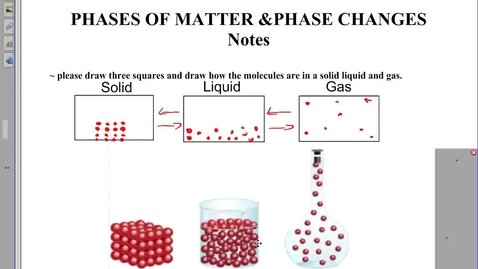 Thumbnail for entry Phases of matter notes