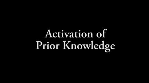 Thumbnail for entry Grade 5 Science, Activation of Prior Knowledge (APK)