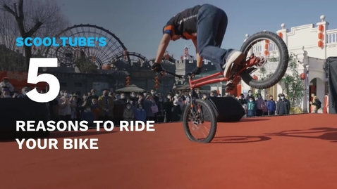 Thumbnail for entry SchoolTube's 5 Reasons Why You Should Ride Your Bike