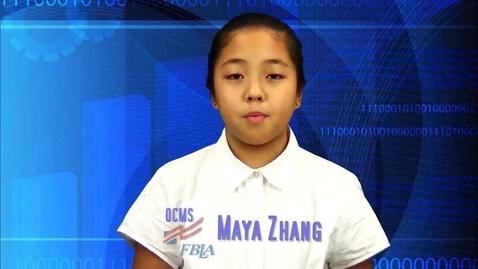 Thumbnail for entry 2017 FBLA RLC Elevator Speech--Oconee Middle-Maya Zhang