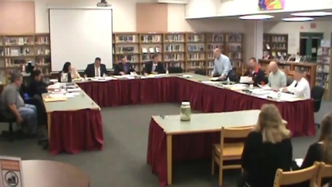 Thumbnail for entry Hackettstown Board of Education Meeting - October 14th, 2015