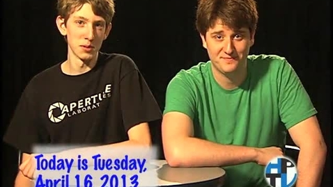 Thumbnail for entry Tuesday, April 16, 2013