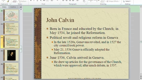 Thumbnail for entry Reformation Lecture 3