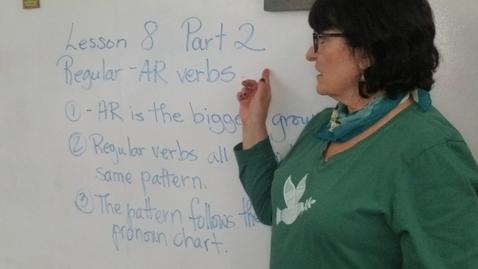 Thumbnail for entry Lesson 8 Part 2 -AR verbs