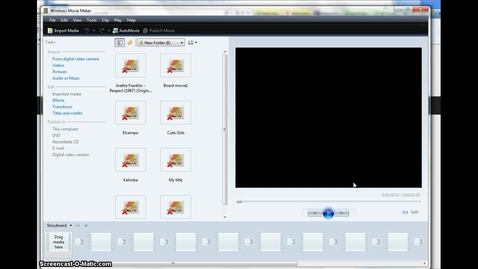 Thumbnail for entry Downsizing Videos with MovieMaker