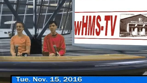 Thumbnail for entry 11-15-16 WHMS Morning News