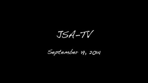 Thumbnail for entry JSATV - September 19, 2014