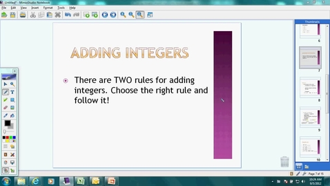 Thumbnail for entry 8th Grade Math: Day 6    Adding Integers