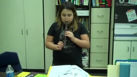 Thumbnail for entry Airiel S.'s recorder solo, 2011, Dabbs Elementary