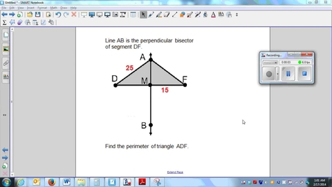 Thumbnail for entry Perpendicular bisectors (part 3)_find the perimeter (W5_L2)-Q4
