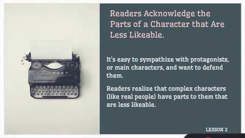 Thumbnail for entry ELA 1: Study of Character: Traits