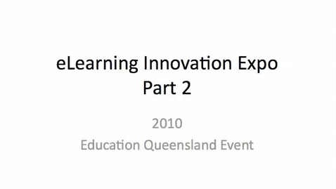 Thumbnail for entry 2010 eLearning Expo - Mordialloc College pt 2