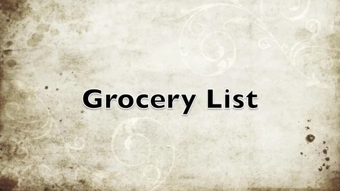 Thumbnail for entry Shopping For Food & Groceries in Hebrew - Part 1