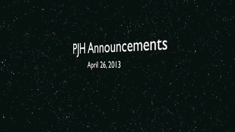 Thumbnail for entry PJH Announcements