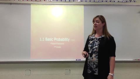 Thumbnail for entry 1.1 Basic Probability