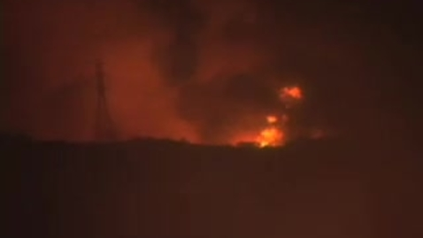 Thumbnail for entry California Wildfire Santiago