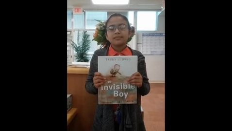 Thumbnail for entry #SISDBookBlitz: The Invisible Boy Booktalk