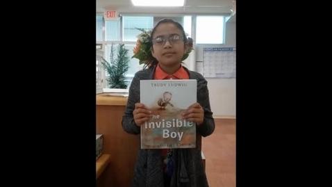 Thumbnail for entry #SISDBookBlitz: The Invisible Boy Booktalk