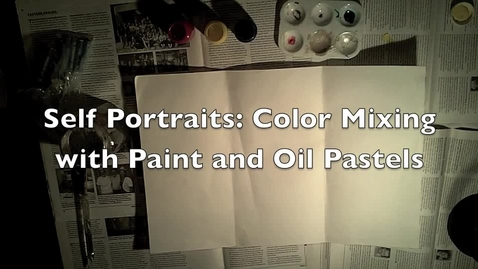 Thumbnail for entry Self Portraits: Color Mixing, Pattern and Pastels