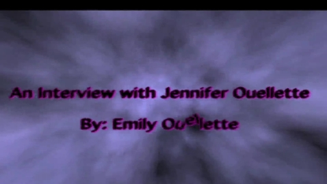 Thumbnail for entry An Interview with Jennifer Ouellette