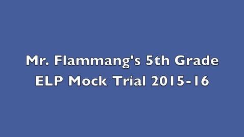 Thumbnail for entry Flammang Mock Trial 2016