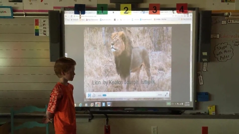 Thumbnail for entry Keaton Luttrell Lion research project