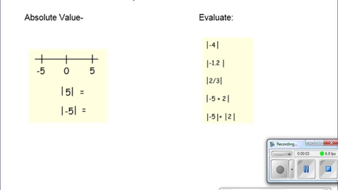 Thumbnail for entry 3.1 Absolute Value Equations