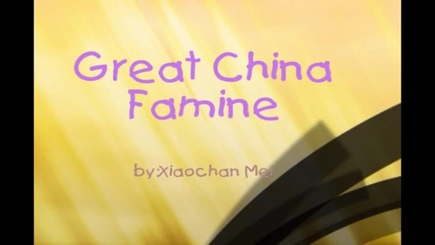 Thumbnail for entry China Famine