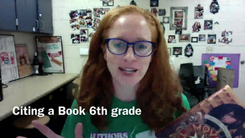 Thumbnail for entry Citing a Book - 6th grade