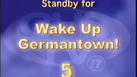 Thumbnail for entry Wake Up, Germantown! December 2