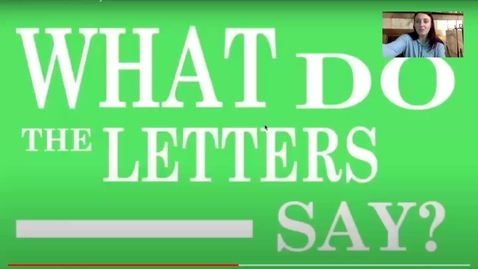 Thumbnail for entry What do the letters say lowercase
