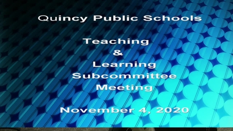 Thumbnail for entry Teaching and Learning Subcommittee