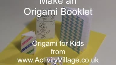 Thumbnail for entry Origami Booklet