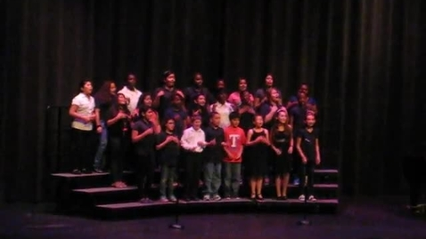 Thumbnail for entry Crockett 5GC Choir performs at their Spring Concert, May 2013