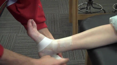 Thumbnail for entry Ankle taping - heellocks, figure 8, closure strips