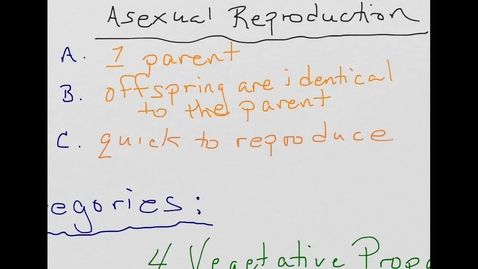 Thumbnail for entry Asexual Reproduction in 2 Minutes