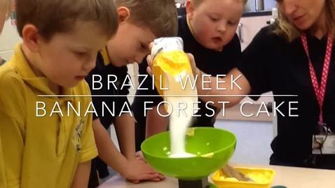 Thumbnail for entry Reception bake Rainforest cake