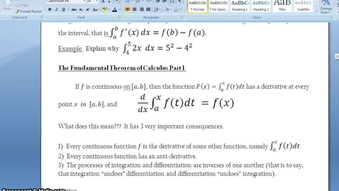 Thumbnail for entry C.4.4 - Fundamental Theorem - Part 1