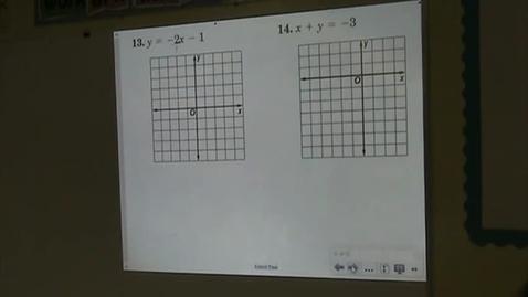 Thumbnail for entry Alg Lesson 5-3 Slope-Intercept Form Part 4