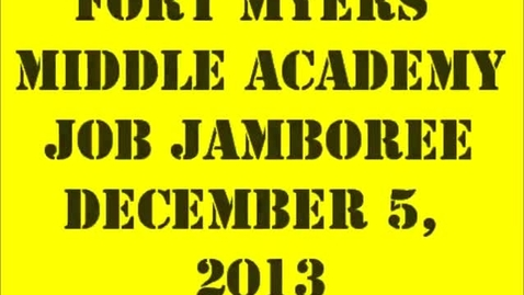Thumbnail for entry FMMA Job Jamboree December 5 2013