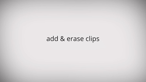 Thumbnail for entry WeVideo: Add & erase clips