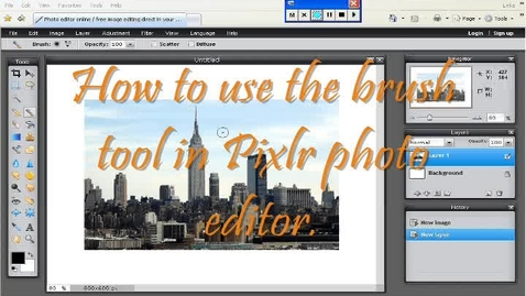 Thumbnail for entry How to use the brush tool in Pixlr.