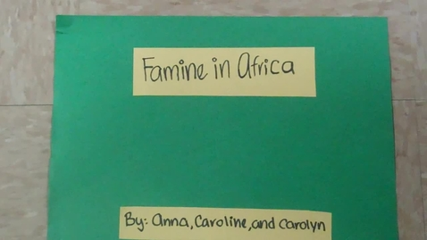 Thumbnail for entry Famine In Africa
