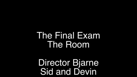 Thumbnail for entry Final - P7-SP13 - The Room