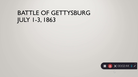 Thumbnail for entry Battle of Gettysburg